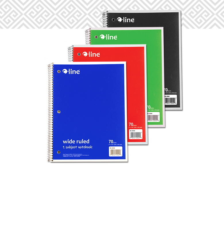 1-Subject Notebook, Assorted<br> Item #22035