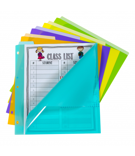 5-Tab Index Dividers with Vertical Tab, Bright Color Assortment, 5/ST, 07150
