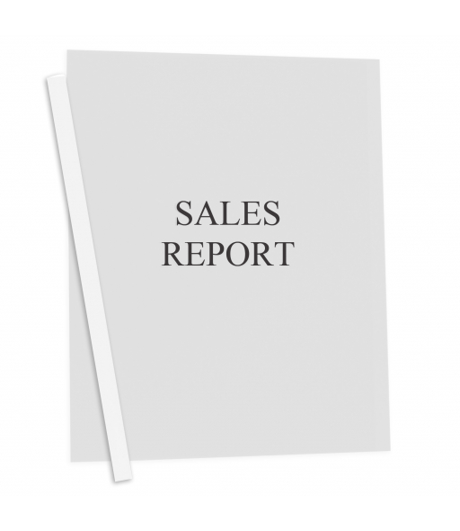 Vinyl Report Covers with Binding Bars, Clear, white binding bars, 11 x 8 1/2, 50/BX, 32557