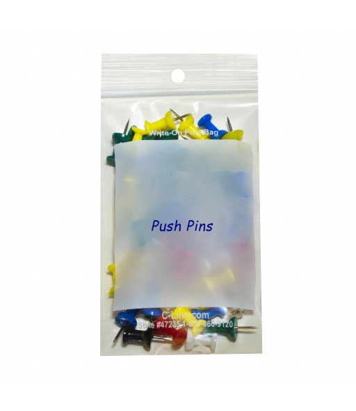 Write-On Poly Bags, 3 x 5, 1000/BX, 47235