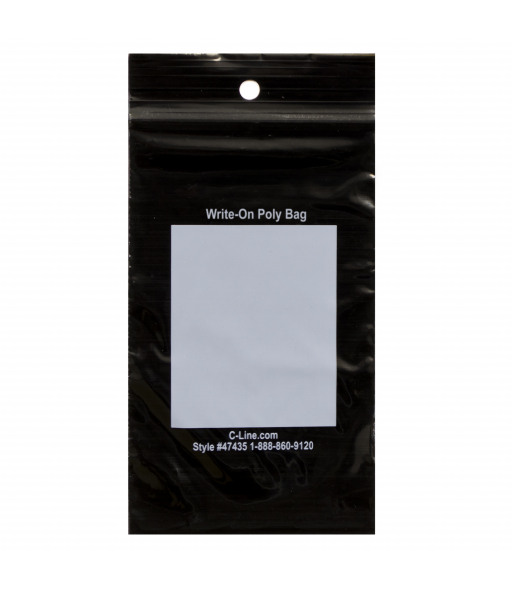 Write-On Poly Bags, 3 x 5, 1000/BX, 47435