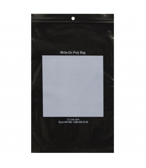 Write-On Poly Bags, 6 x 9, 1000/BX, 47469