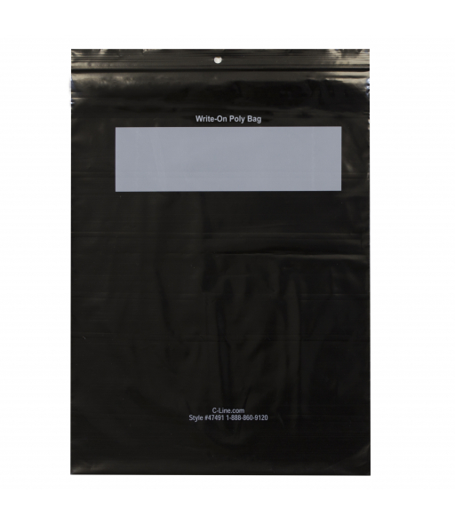 Write-On Poly Bags, 8-1/2 x 11, 1000/BX, 47491