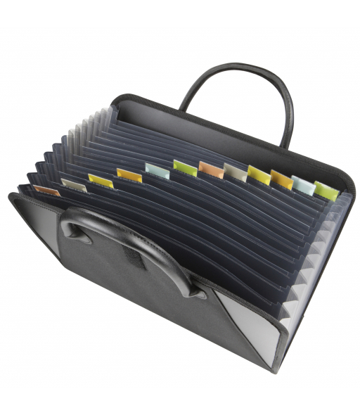 Expanding File with Handles, Black, 1/EA, 48211