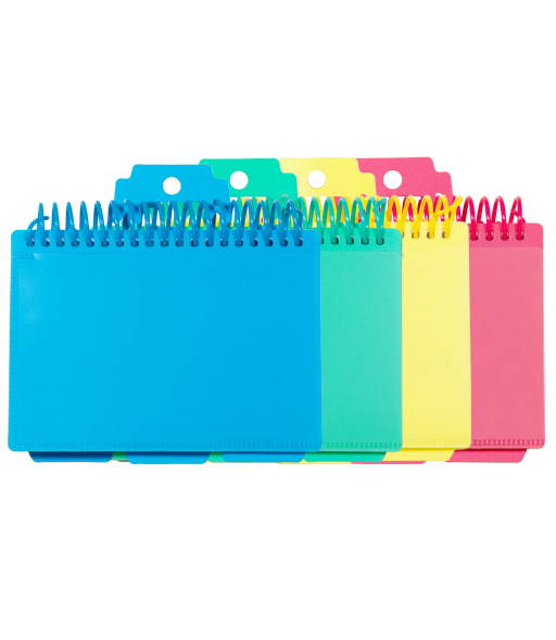 Spiral Bound Index Card Notebook with Tabs, Assorted, 1/EA, 48750