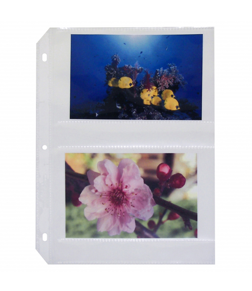35mm Ring Binder Photo Storage Pages - 4 x 6, Traditional clear - side load, 11 1/4 x 8 1/8, 50/BX, 52564