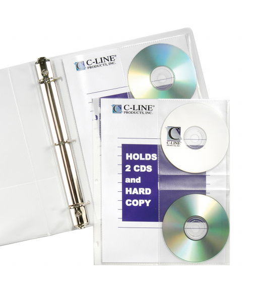 CD/Document Ring Binder Pages, 10/PK, 61747