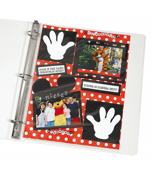 Memory Book 8-1/2 x 11 Scrapbook Page Protector, top load, clear, 50/BX, 62077
