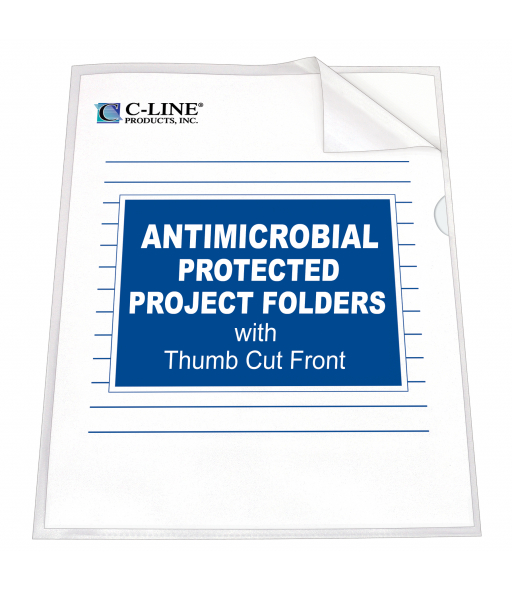 Project Folder with Antimicrobial Protection, reduced glare, 11 X 8 1/2, 25/BX, 62137