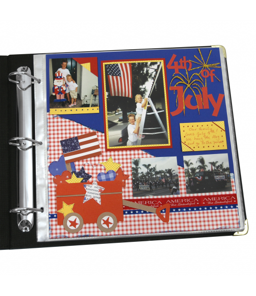 Memory Book - 12 x 12 Scrapbook Page Protectors, top loading, clear, 50/BX, 62227