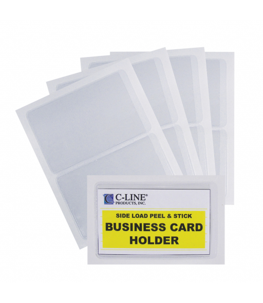 Self-Adhesive Business Card Holder, side load, 2 x 3 1/2, 10/PK, 70238