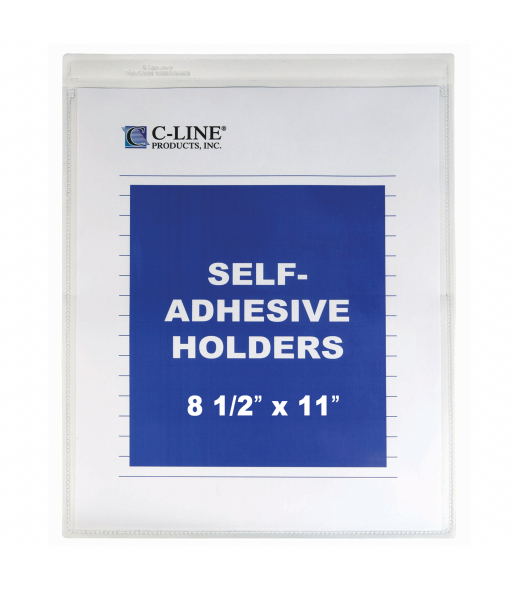 Self-adhesive shop ticket holders, 8½ x 11, 50/BX, 5BX/CT