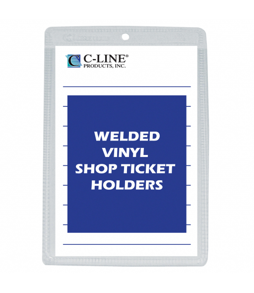 Shop ticket holders, welded vinyl, both sides clear, 5 x 8, 50/BX, 5BX/CT