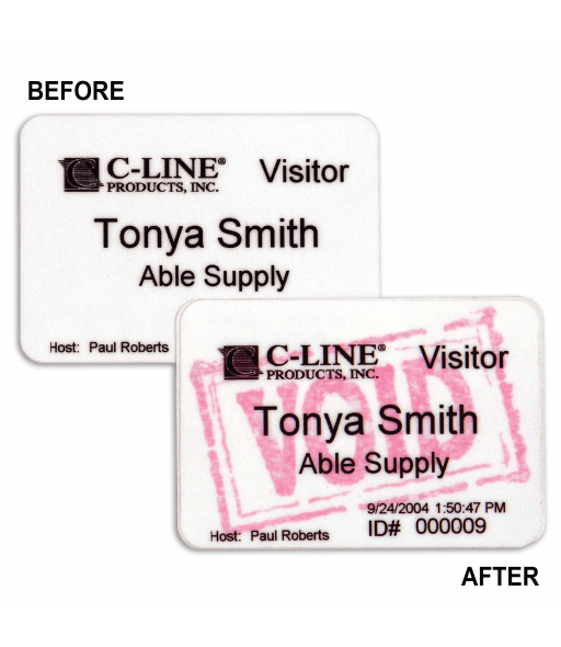 Badges for Direct Thermal Printers, Time's Up One Day Expiring Badges, 3 x 2, 200/BX, 97007