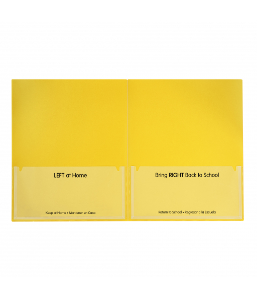 Classroom Connector Folders, Yellow, 25/BX, 32006