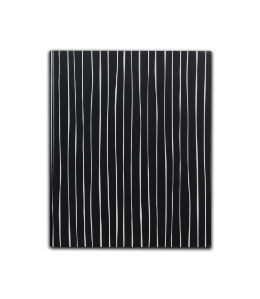 Professional Hardbound Notebook, Charcoal and White Stripes, 1/EA, +16EA/CT