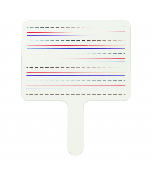 Two-Sided Dry Erase Answer Paddle, Lined on One Side, 1/EA, +12EA/BX, 4BX/CT