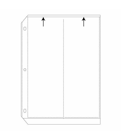 35mm Ring Binder Photo Storage Pages - 3 1/2 x 10, Deluxe, Write on - top load, 11 1/4 x 9 1/8, 50/BX, 54596