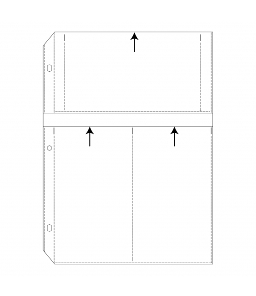 APS Ring Binder Photo Storage Pages - 4 x 7, Multiview, Write on - top load, 12 1/2 x 9 1/4, 10/PK, 63573