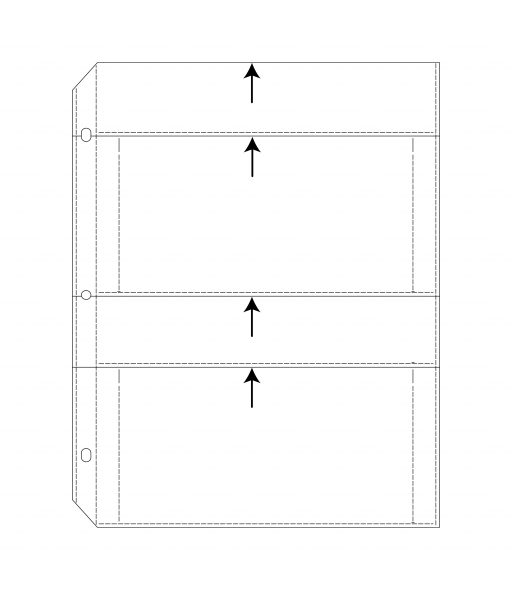 APS Ring Binder Photo Storage Pages - 4 x 7, Traditional clear - top load, 12 1/2 x 9 1/4, 50/BX, 63574