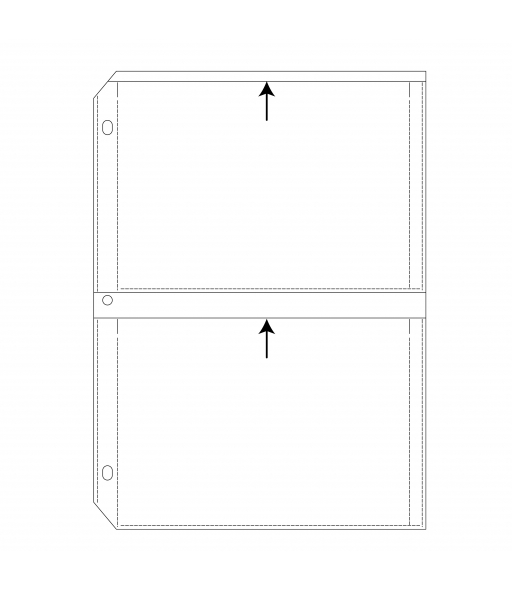 C-Line Products 35mm Storage - 5 x 7, Deluxe, Write on - top load, 11 1/4 x 8 1/8, #64572