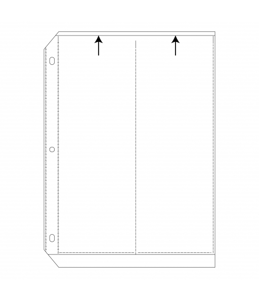 35mm Ring Binder Photo Storage Pages - 3 1/2 x 10, Deluxe, Write on - top load, 11 1/4 x 9 1/8, 5/PK, 64596