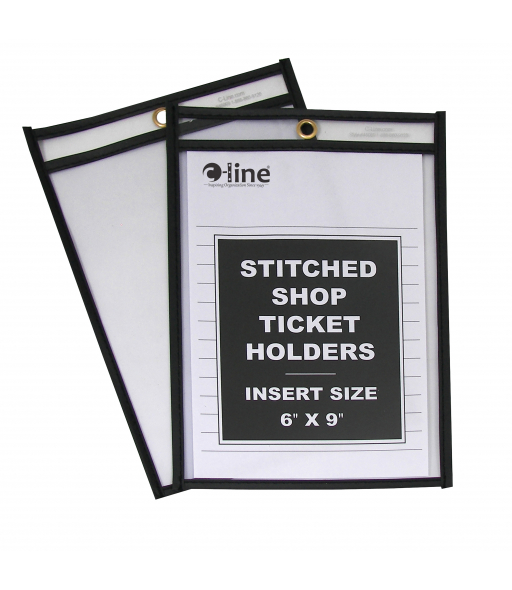 Shop ticket holders (stitched) both sides clear, 6 x 9, 25/BX, 10BX/CT