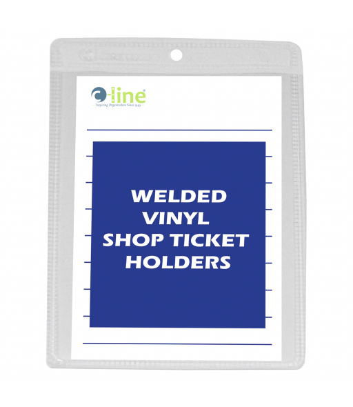 Shop ticket holders, welded vinyl, both sides clear, 4 x 6, 50/BX, 10BX/CT