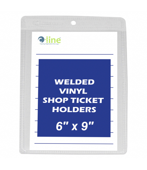 Shop ticket holders, welded vinyl, both sides clear, 6 x 9, 50/BX, 5BX/CT
