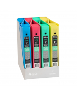 Mini Size 3-Ring Poly Binder, 1 Inch Capacity, Assorted, 1/EA, 30710