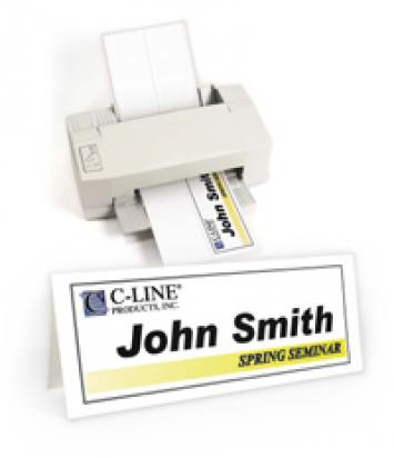 Laser Inkjet Printer Name Tents and Badges from C-Line
